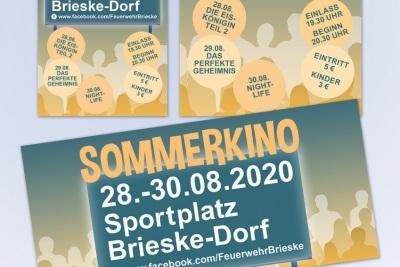 Flyer und Plakate Sommerkino