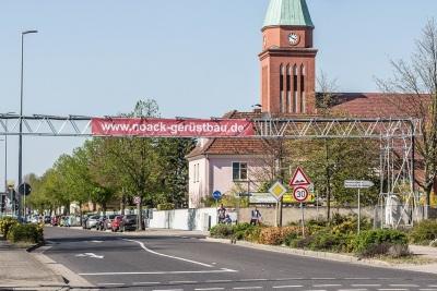 Gerüstwerbung für Noack Gerüstbau in Senftenberg