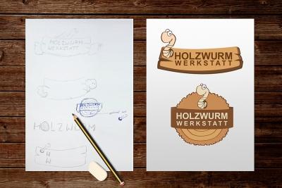 Logoentwicklung Holzwurmwerkstatt